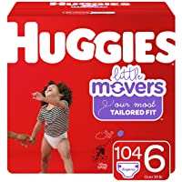 Huggies Little Movers Baby Diapers, Size 6, 104 Ct, One Month Supply, Packaging...