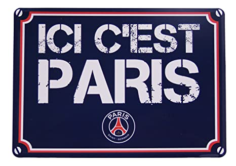 Plaque de rue PSG - Collection officielle PARIS SAINT GERMAIN - Football  Ligue 1 - Taille 15 x 20 cm  Amazon.fr  Sports et Loisirs 4aa6a98a922