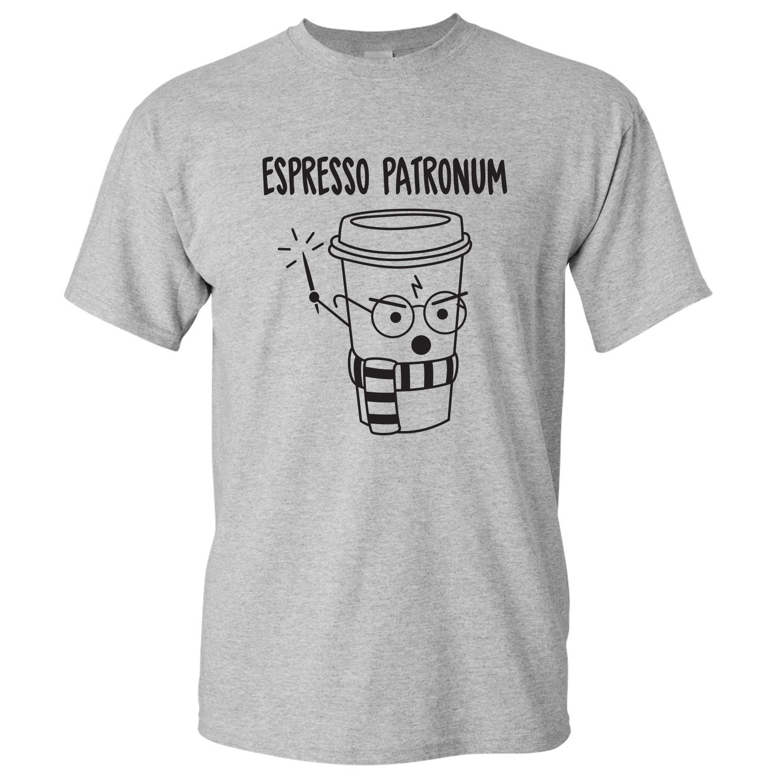 Espresso Patronum Basic Cotton T-Shirt - Large - Sport Grey w/ Black