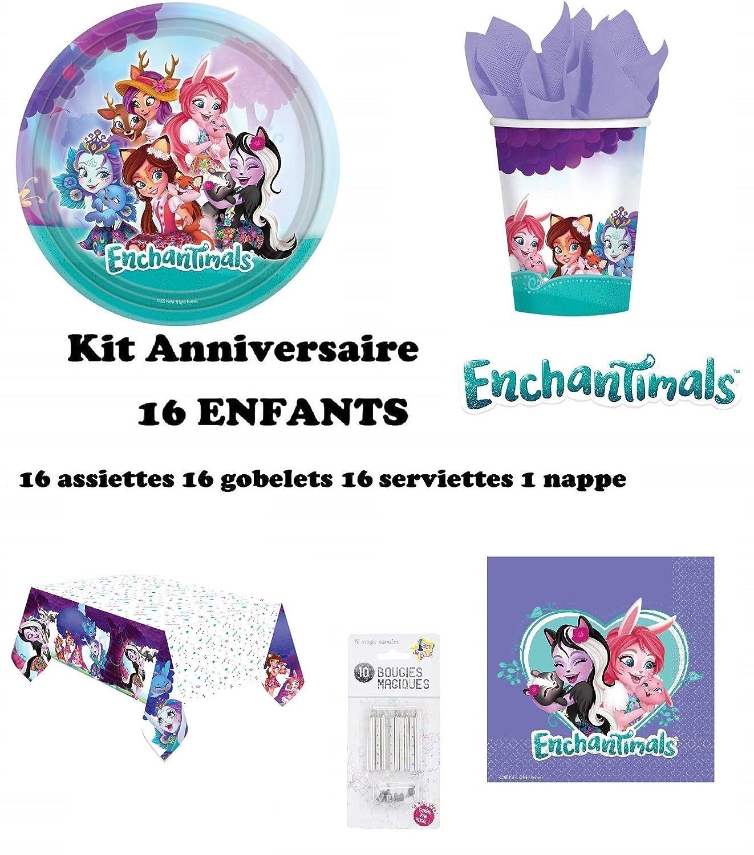 uni que Set de Cumpleaños Enchantimals Completa 16 niños (16 ...