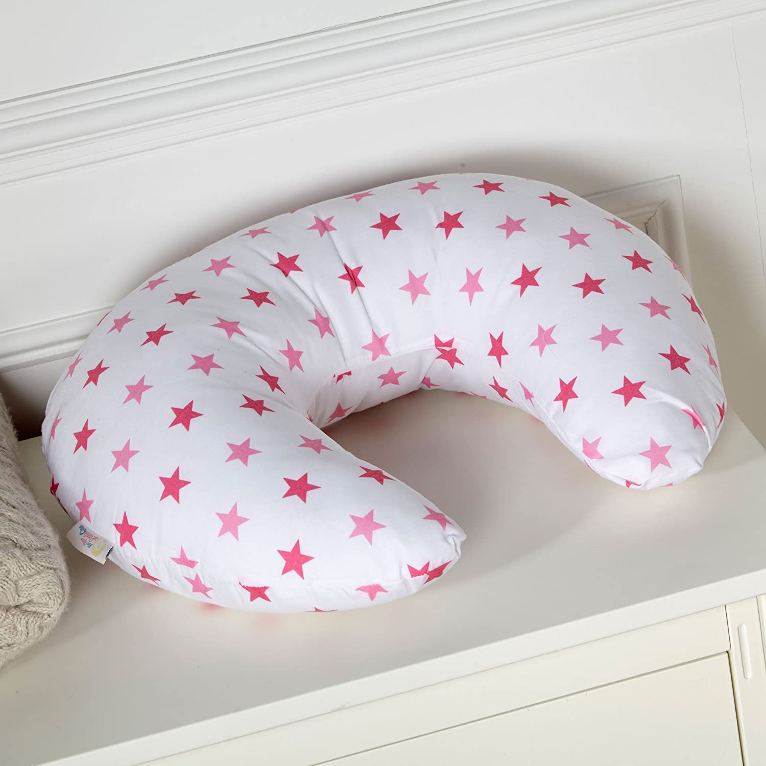 Breast Feeding Nursing U Pillow Little Star Pink For-Your-Little-One