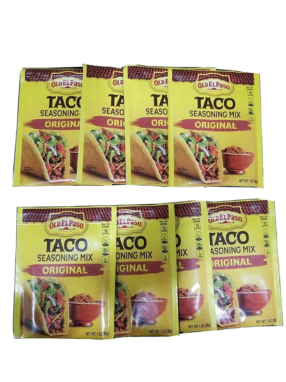 Amazon Com Old El Paso Original Taco Seasoning Mix 1 Oz Pack Of 8 Grocery Gourmet Food