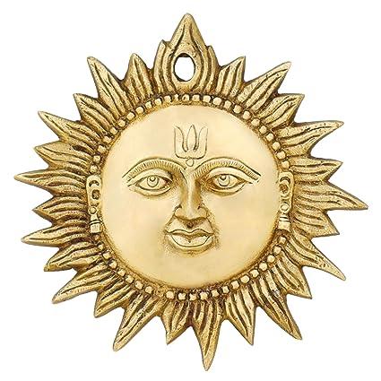 Amazon Com Indian Art Home Decorations Sun Wall Hanging Brass Metal