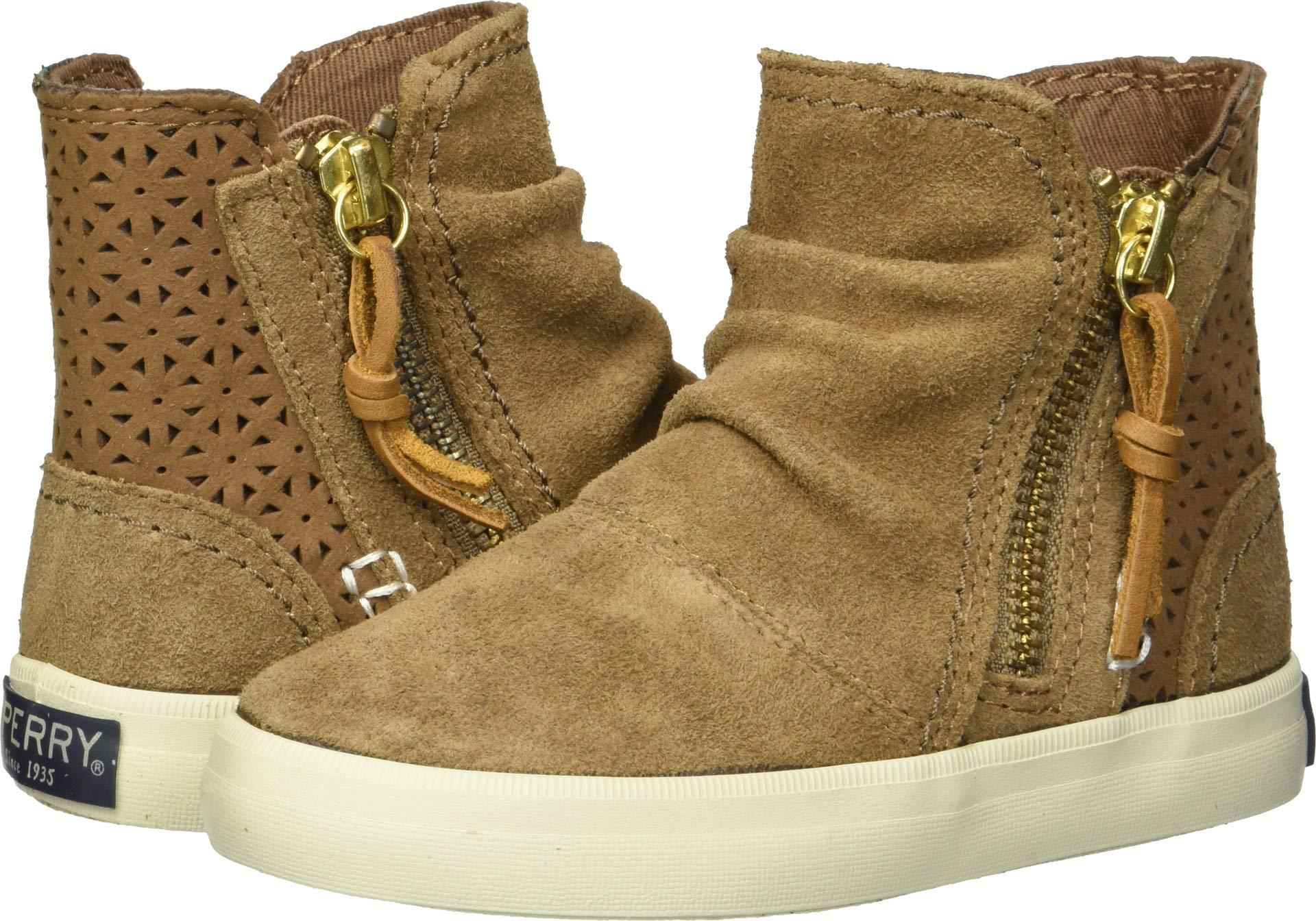 Sperry Top-Sider Girls' Crest Zone Sneaker, Chestnut, 9 Medium US Toddler