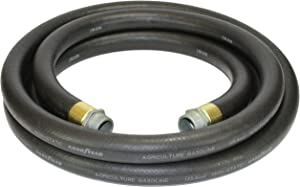 Goodyear 1729-0750-20 Farm Fuel 3/4-Inch by 20-Feet Transfer Hose with Threaded Male Couplings on Both Ends, Black