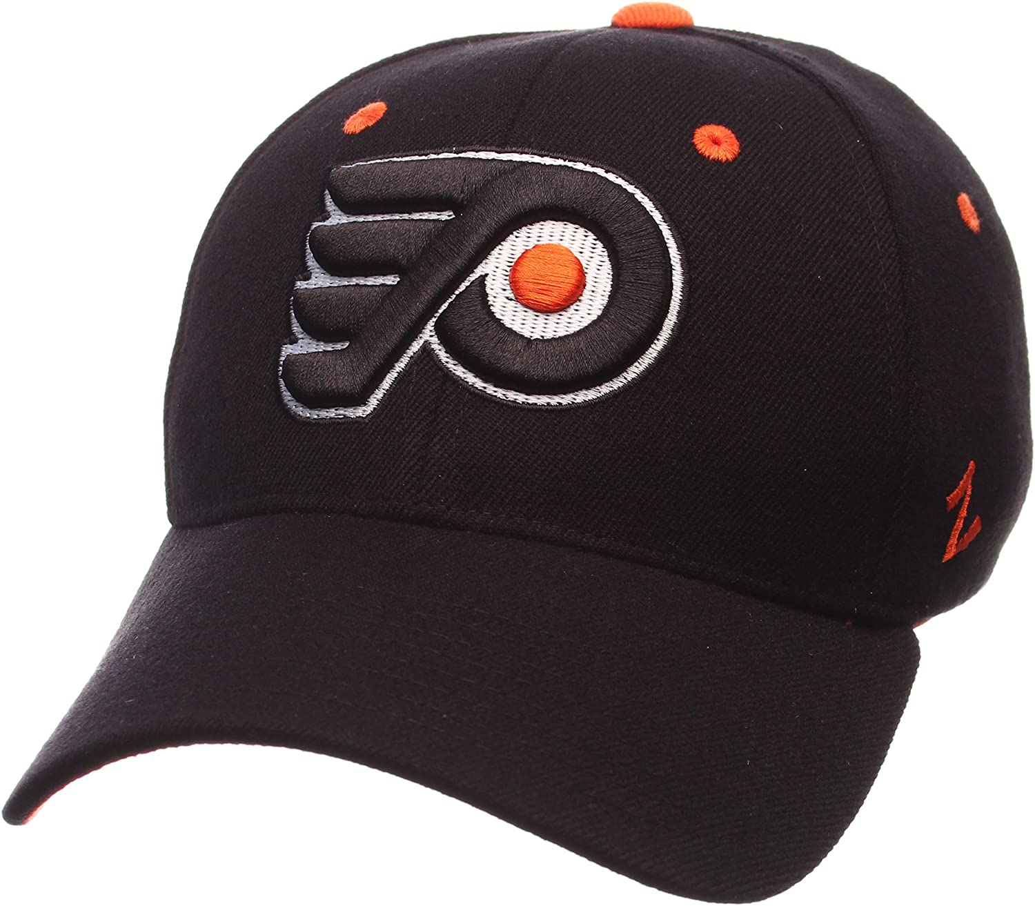 Large Black NHL Zephyr Philadelphia Flyers Mens Breakaway Hat