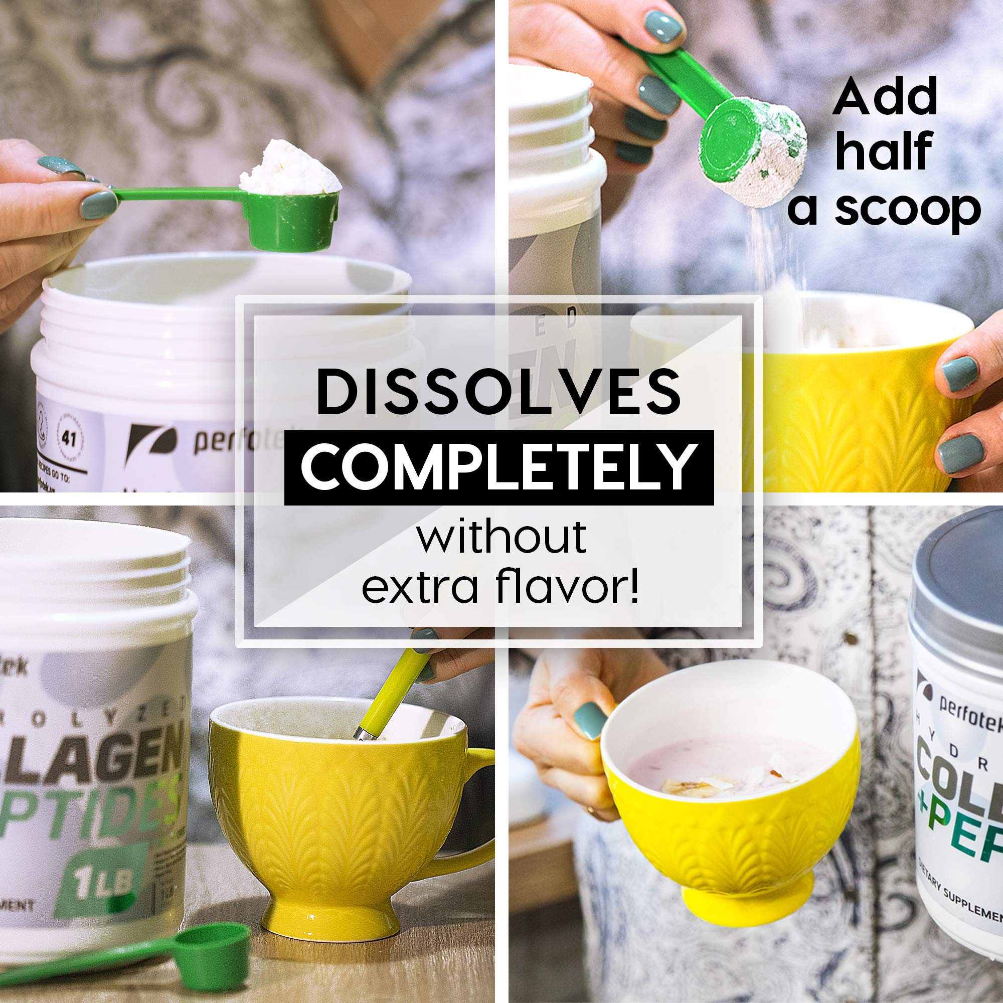 afc6b68a0043d Collagen Peptides Hydrolyzed Powder 16 oz (Pack of 2) Non-GMO Grass-Fed  Gluten-Free Kosher Unflavored - Easy to Mix Drink - Premium Beef Collagen  ...