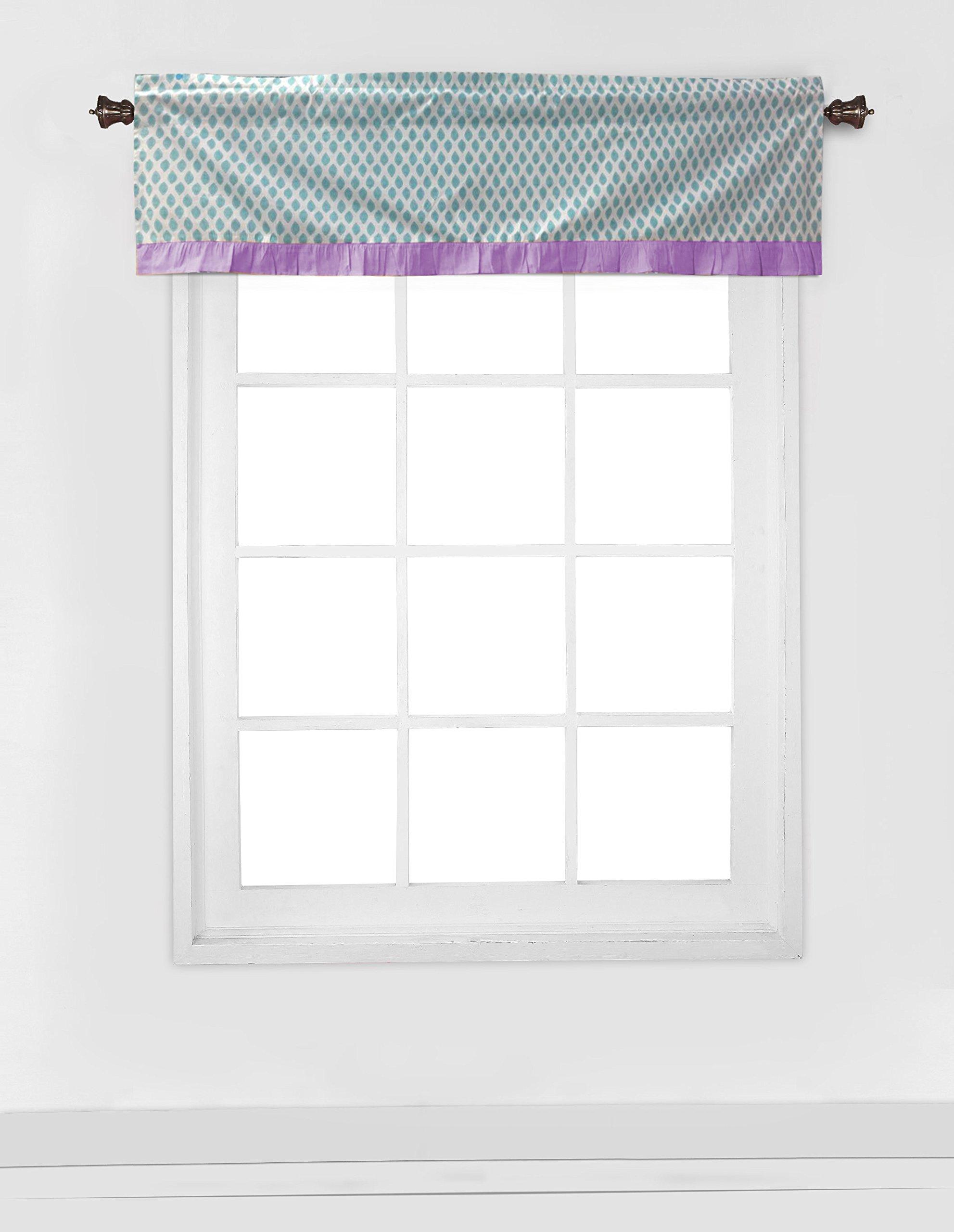 Bacati Isabella Girls Paisley 6 Piece Crib Set with Diaper Stacker, Lilac/Purple/Aqua by Bacati (Image #4)