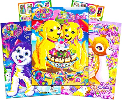 Amazon.com: Lisa Frank Coloring Book And Stickers Super Set (3 Books With  Over 30 Lisa Frank Stickers): Toys & Games