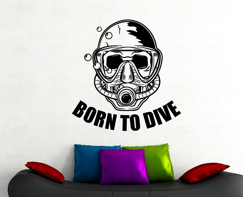 BORN TO DIVE Scuba Diver Diving Vinyl Decal Sticker A