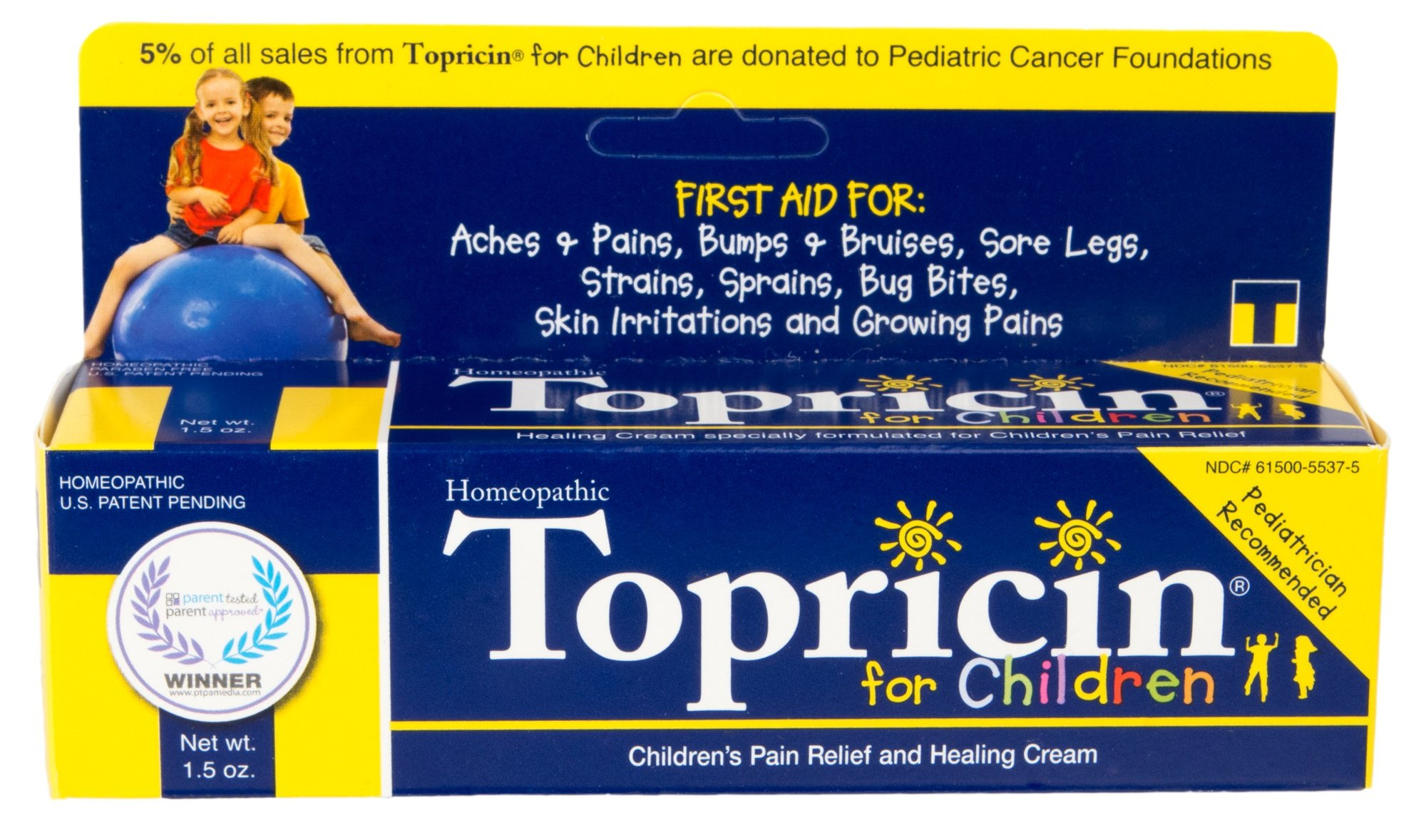 Topricin Children's Pain Relief and Healing Cream 1.5 oz