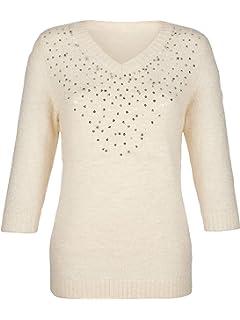 e90da2ba5047 Unbekannt Damen Pullover mit Blütendruck Pflegeleicht by Paola ...