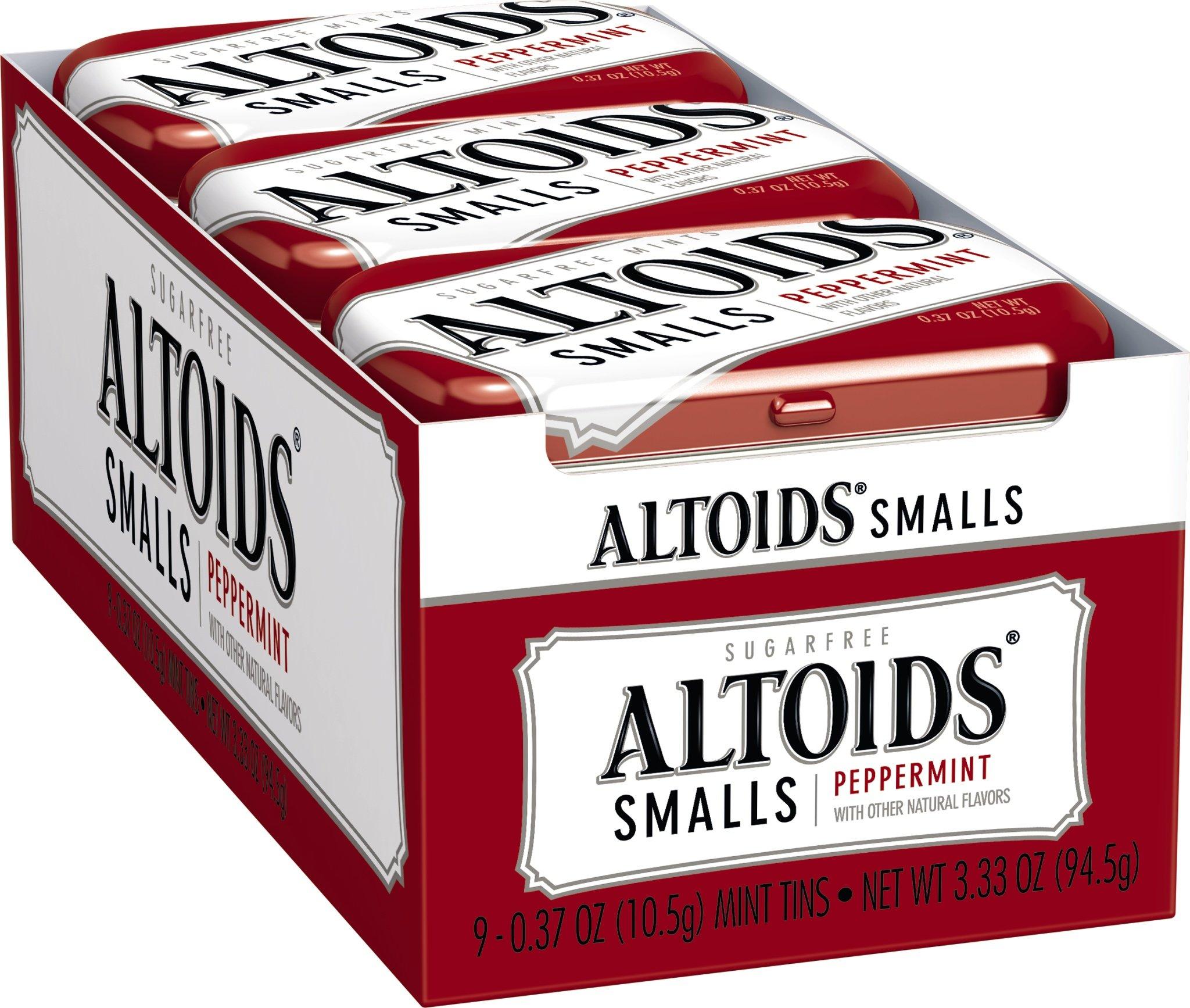 Altoids Smalls Mints, Peppermint, 0.37 Ounce (2 Packs of 9)