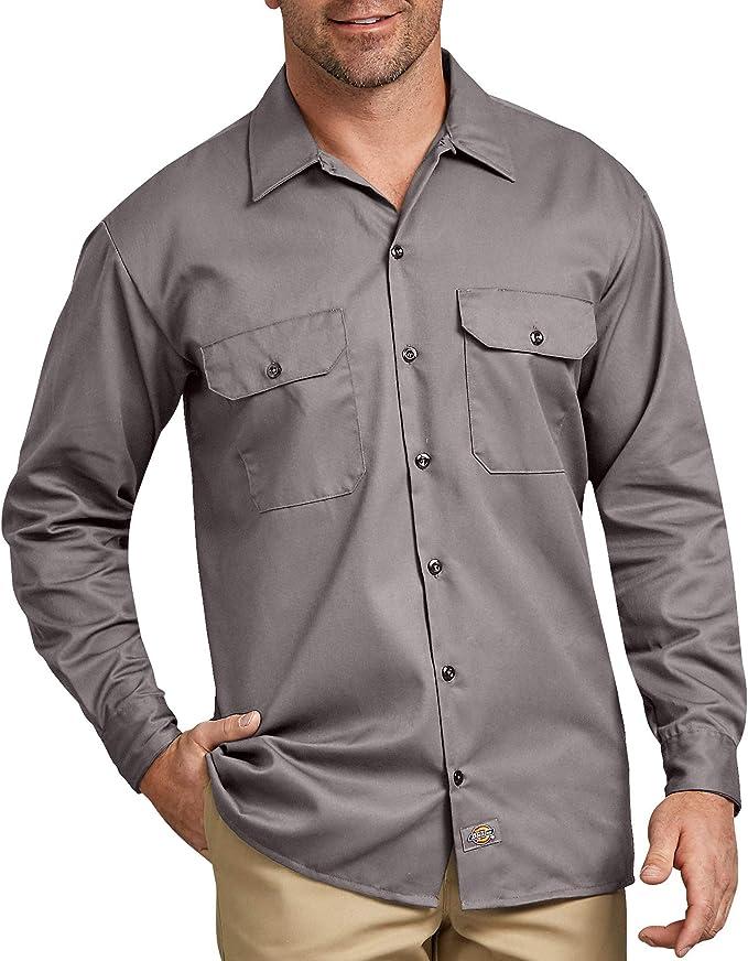 Dickies - Camisa con Manga Larga para Hombre, Color Plateado, Talla M: Amazon.es: Ropa y accesorios