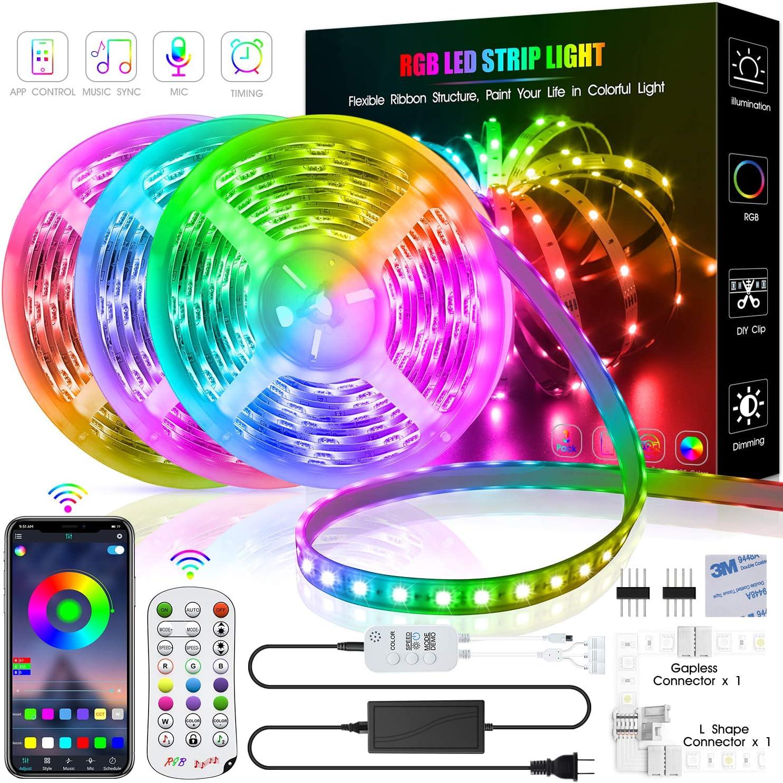 Remote Led String Strip Color Changing Lights Lamps Indoor Room Home Decor NEW