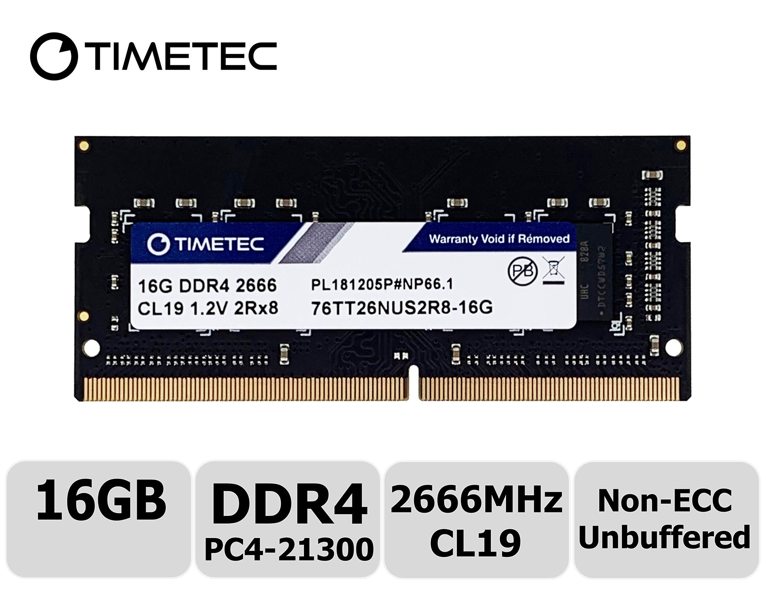 Memoria Ram 16GB DDR4 2666MHZ PC4-21300 SODIMM TIMETEC