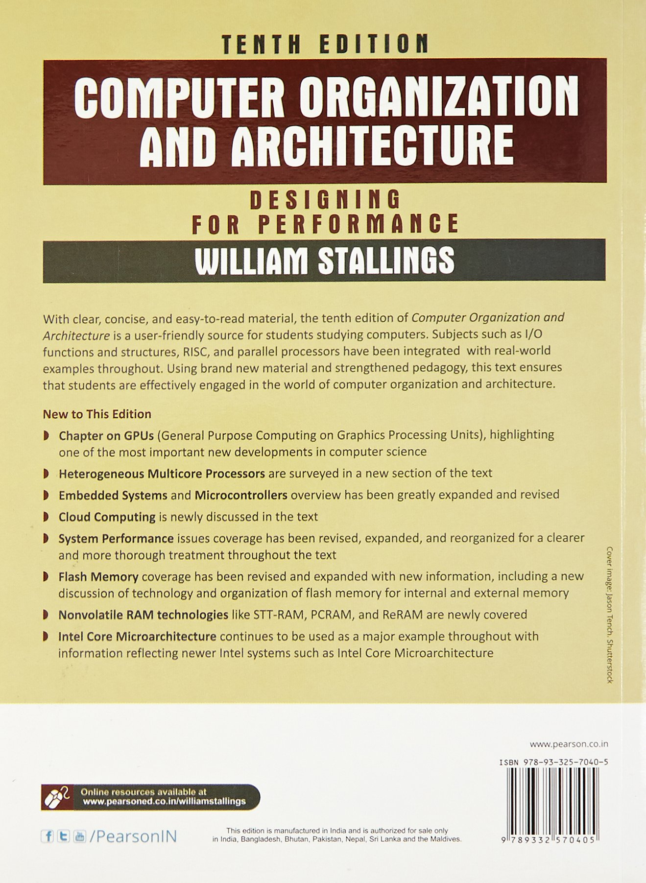 Buy Computer Organization Architecture 10 Book Online At Low Of Systems Arithmetic Prices In India Reviews Ratings