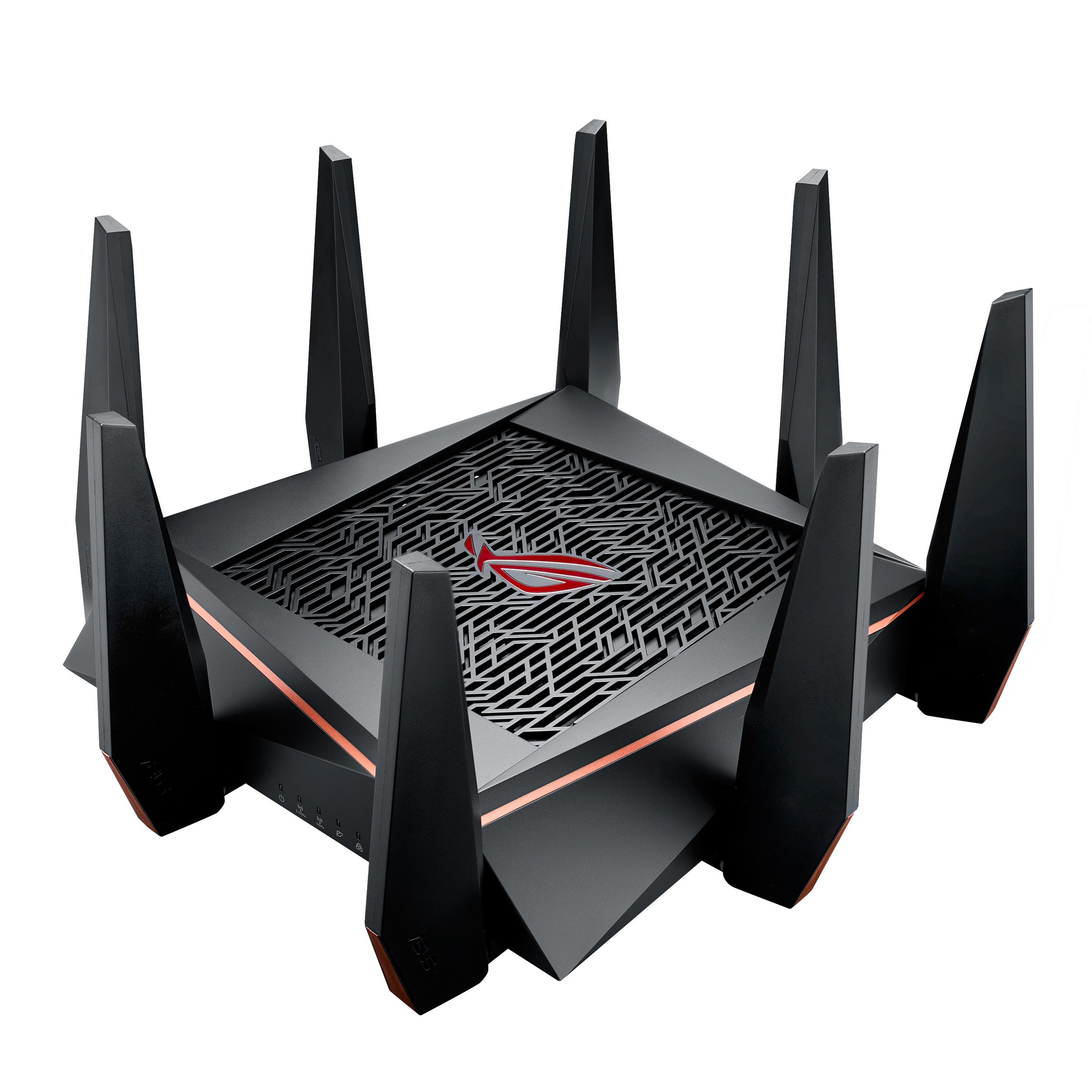 ASUS ROG AC5300 WiFi Tri-band Gigabit Wireless Router with 4x4 MU-MIMO, 8x LAN Ports, AiProtection Network Security and WTFast Game Accelerator, AiMesh Whole Home WiFi System Compatible (GT-AC5300)