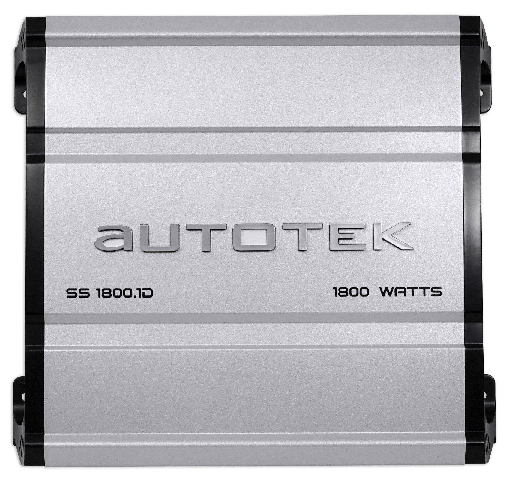 Autotek SS1800.1D Super Sport 1800w Mono Car Amplifier Class D+Remote+Amp Kit by Autotek (Image #2)