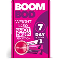 Boombod Weight Loss Shot Drink, Glucomannan, High Potency, Diet & Exercise Enhancement, Promote Fat Loss, Keto & Vegetarian Friendly, Sugar & Aspartame Free, Gluten-Free | Blackcurrant Flavour