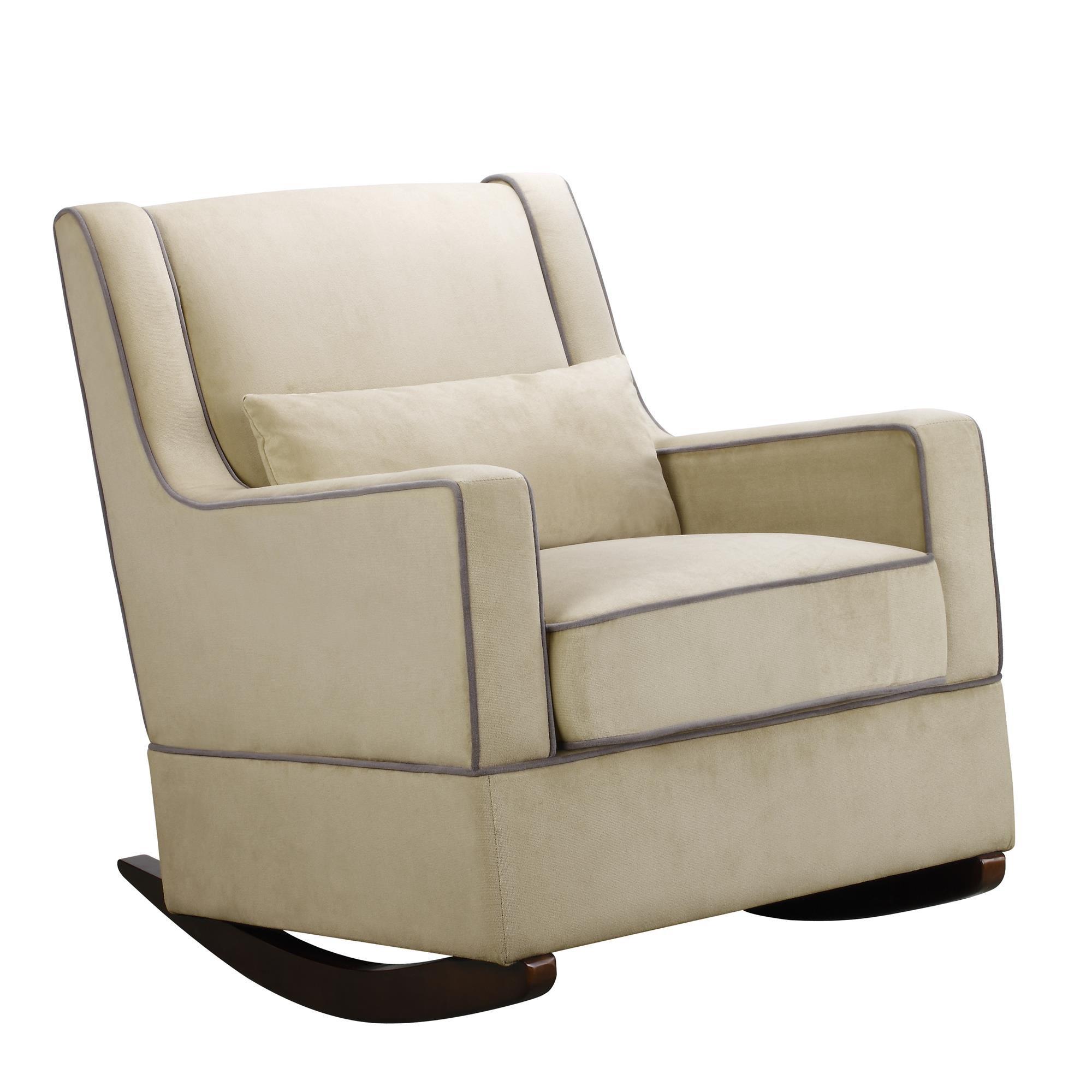 Baby Relax The Sydney Nursery Microfiber Rocker Chair and Free Lumbar Pillow, Beige