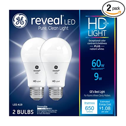 Ge Light Bulb A19 Lighting Hd Reveal Watt60 Pack 98877 Replacement650 Led With 9 Lumen Medium Base2 m80wnOyvPN