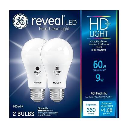 GE Lighting Reveal HD LED 9-watt (60-watt Replacement) 650  sc 1 st  Amazon.com & Amazon.com: GE Lighting Reveal HD LED 9-watt (60-watt Replacement ...
