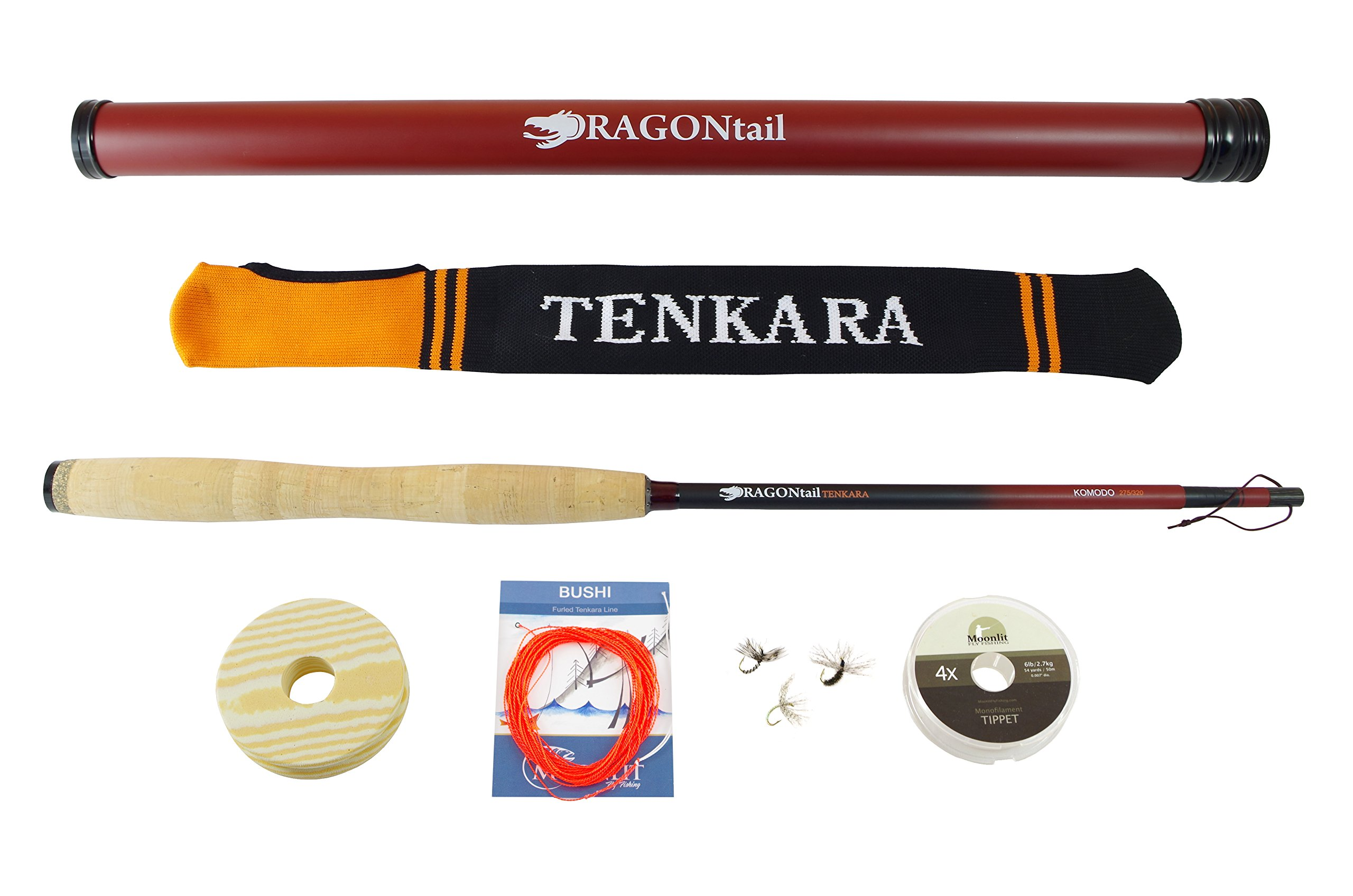 DRAGONtail Tenkara KOMODO Zoom 10.5' / 9' Fly Fishing Rod and Complete Starter Kit by DRAGONtail Tenkara