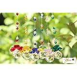 Yier® 20mm Kristall Kronleuchter Prismen Fenster Regenbogen -Hersteller Suncatcher 6er Pack