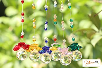 Yier 20mm chandelier crystal prisms window rainbow maker suncatcher yier 20mm chandelier crystal prisms window rainbow maker suncatcher pack of 6 aloadofball Choice Image
