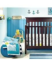 New Baby Boy Neutral Animal Ocean Whale 8pcs Crib Bedding Set with Bumper