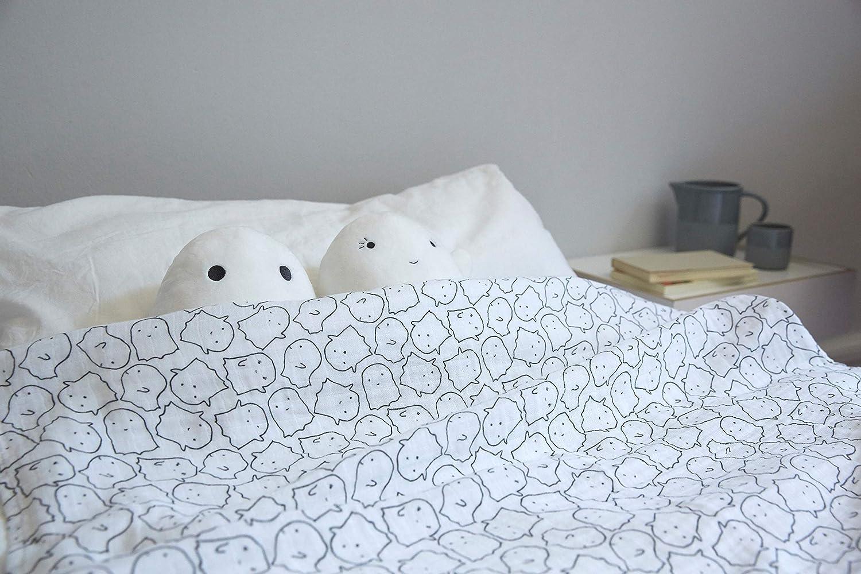 L/ÄSSIG Baby Puckdecke Spuckdecke Pucktuch Mulltuch weich kuschelig Baumwolle vorgewaschen//Swaddle /& Burp Blanket Little Spookies