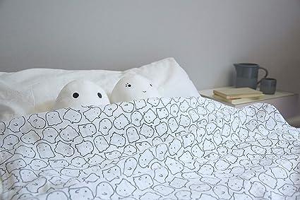 Amazon.com: Lassig Swaddle & Burp Blanket, Little Spookies Olive, X-Large: Baby
