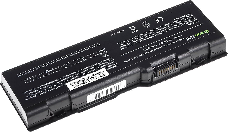 6 Celdas 4400mAh 11.1V Negro Green Cell/® Standard Serie C5974 D5318 Bater/ía para DELL Inspiron 6000 9200 9300 9400 E1705 XPS Gen 2 Ordenador