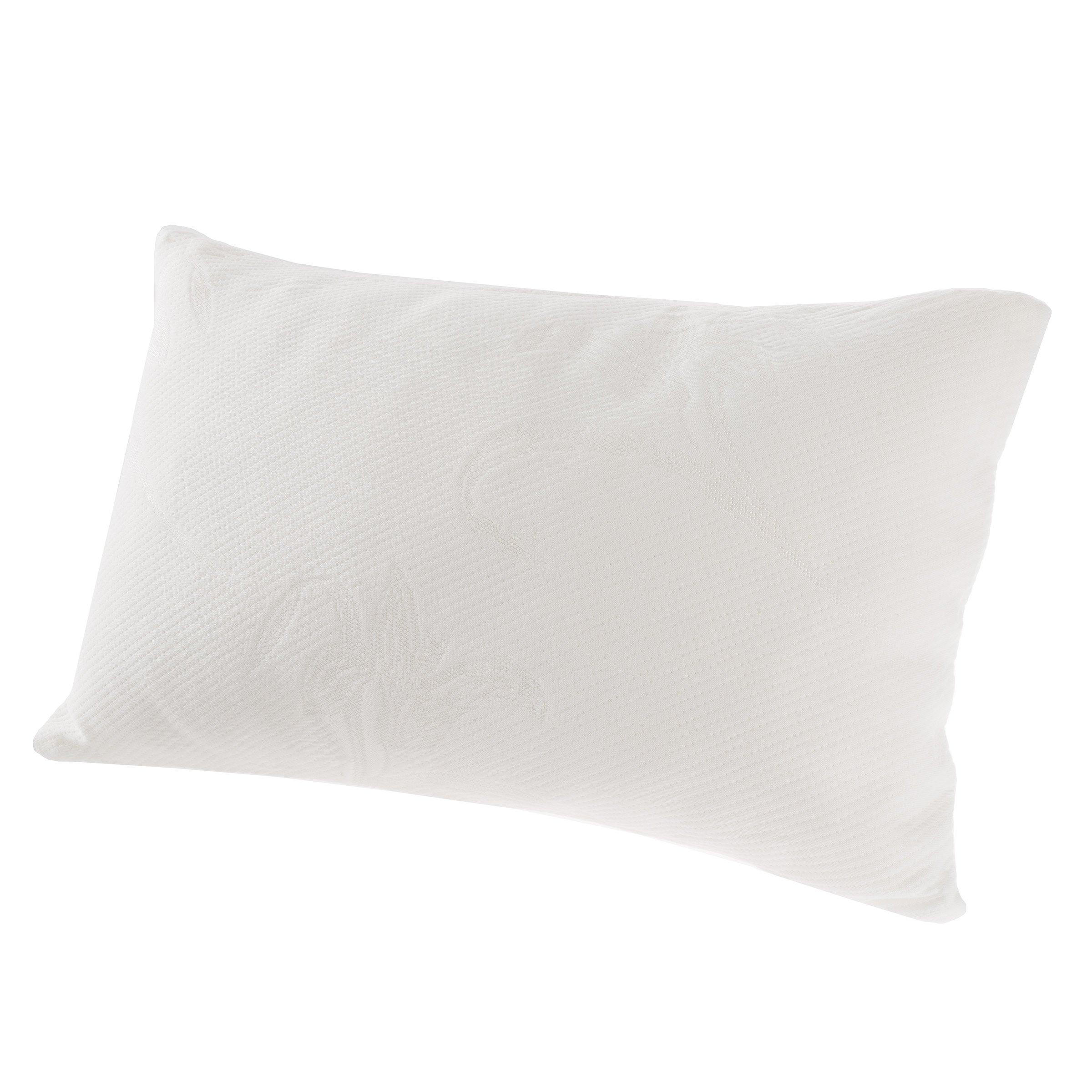 Everyday Home Shredded Memory Foam Toddler Pillow, White