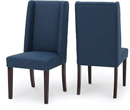 Christopher Knight Home 300213 Rory Fabric Dining Chair Set Of 2 Navy Blue Amazon Ca Home Kitchen
