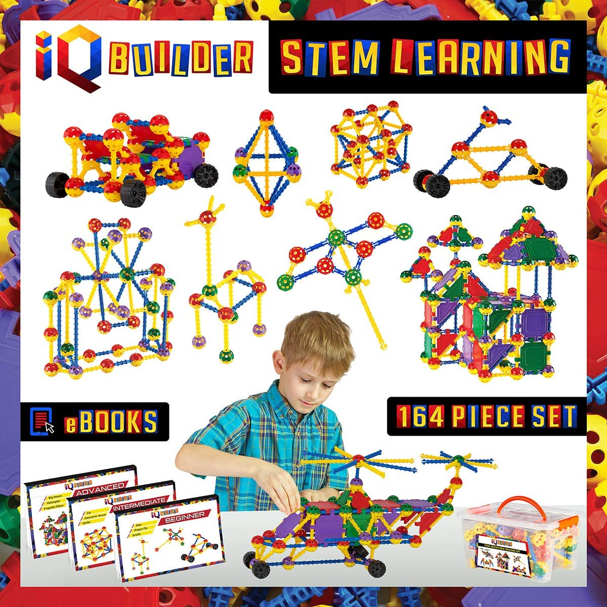 iq builder stem learning educational toys for autism toddlers