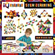 IQ BUILDER   STEM Learning Toys   Creative Construction Engineering   Fun Educational Building Toy Set for Boys and Girls Ages 3 4 5 6 7 8 9 10 Year Old   Best Toy Gift for Kids   Top Blocks Game Kit