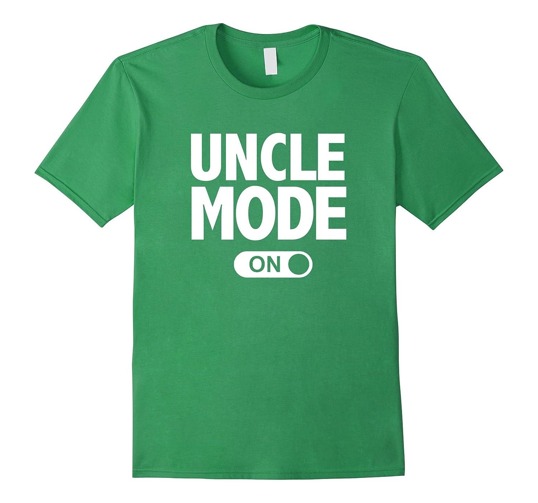 New Uncle Mode Pregnancy Baby Announcement T-Shirt-FL