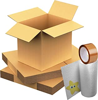 Cardboard Boxes Double Wall 18' x 18' x 24' Packaging Cartons 10 Boxes with 1 Tape - STAR SUPPLIES®