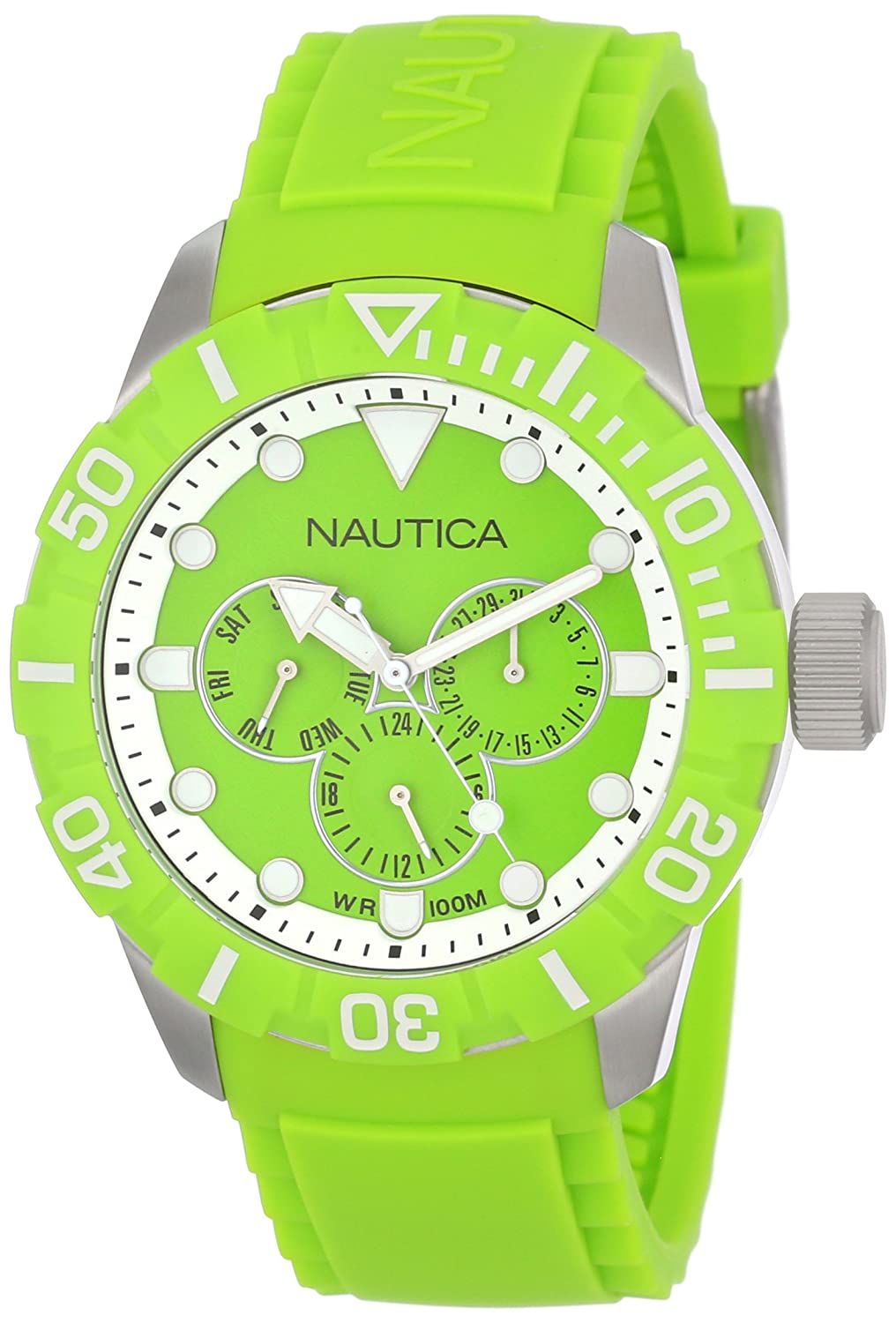 Amazon.com: Nautica Unisex N13640G NSR 101 Multi- South Beach Classic Analog with Enamel Bezel Watch: Watches
