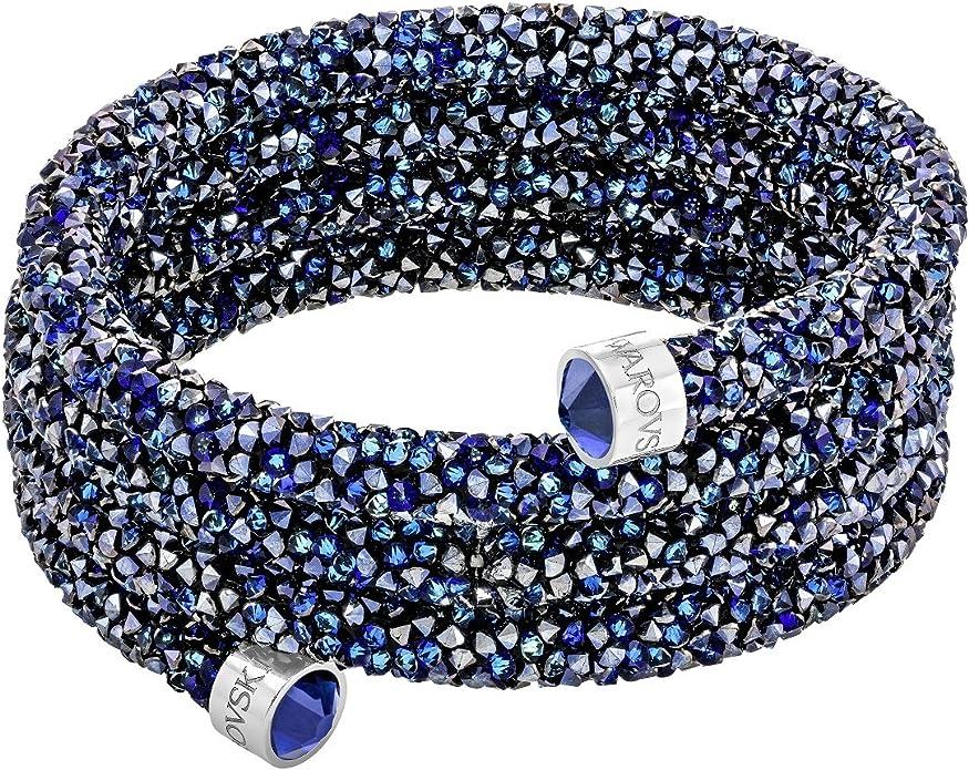 Amazon.com: Swarovski Crystaldust Wide Bangle - Blue - 5294804 ...