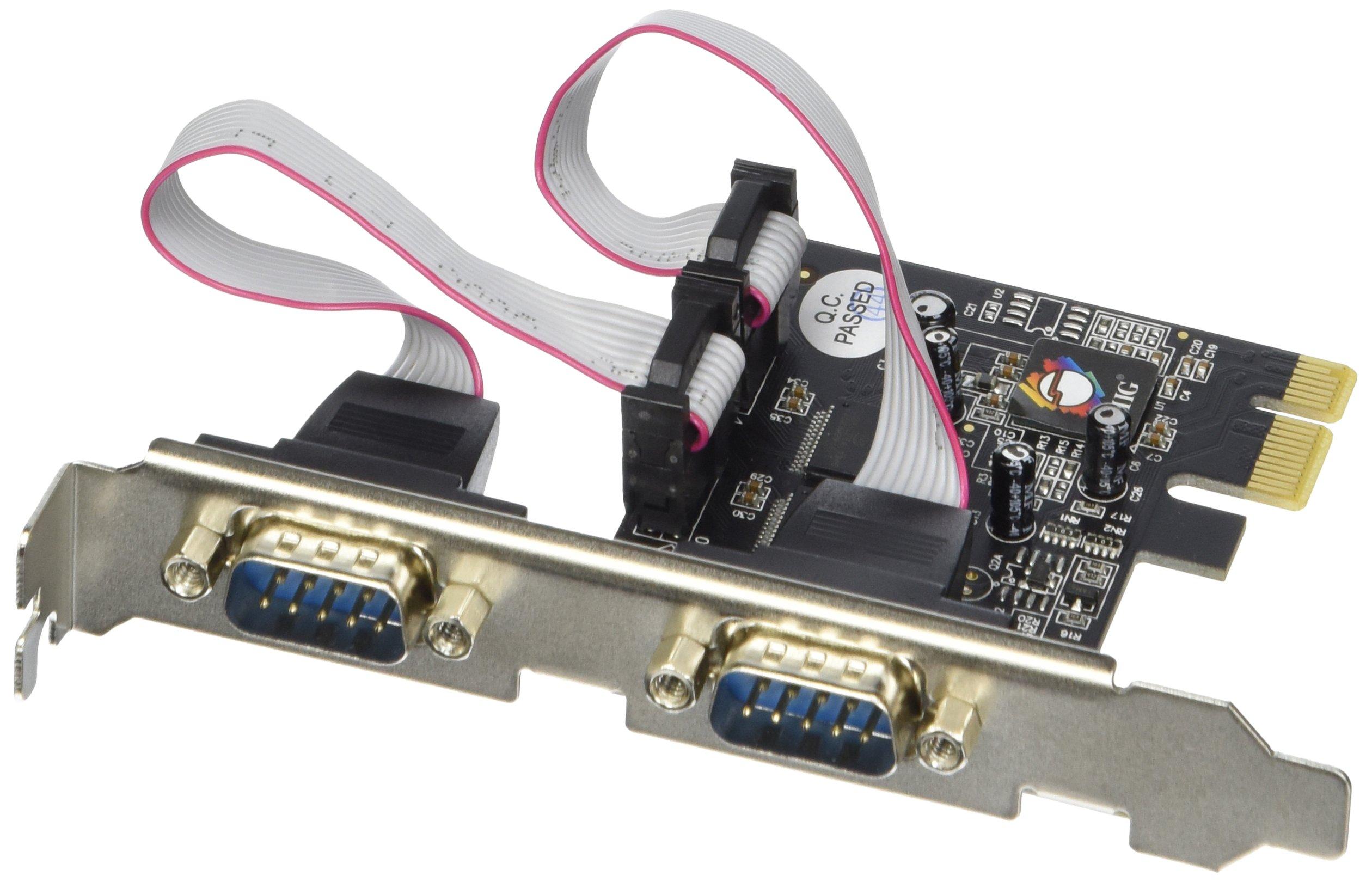 PCIe serial RS232 de 2 puertos SIIG con 16950 UART (JJ-E02111-S1)