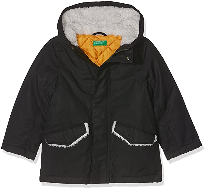 United Colors of Benetton Jacket, Chaqueta para Niños, Negro (Black 100),