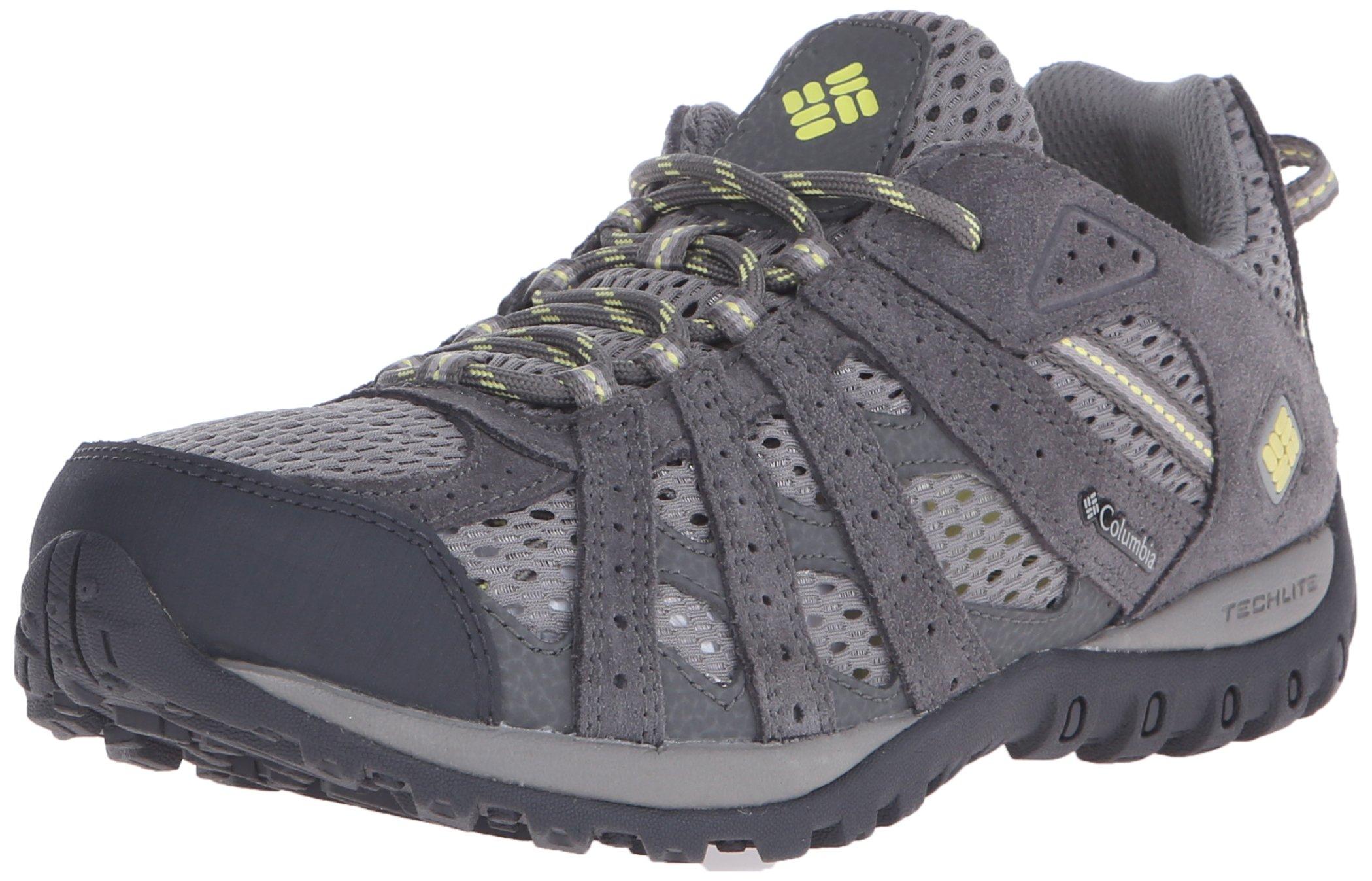 Columbia Women's Redmond Breeze Trail Shoe, Light Grey/Sunnyside, 8.5 B US