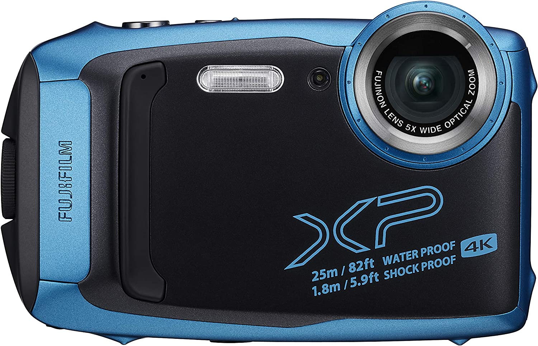 Fujifilm FinePix XP140 - Cámara Digital Compacta, Color Azul Claro ...