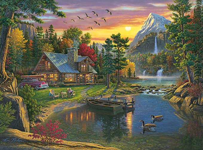 1000 Piece Jigsaw Puzzle Colors on The Mountain Buffalo Games