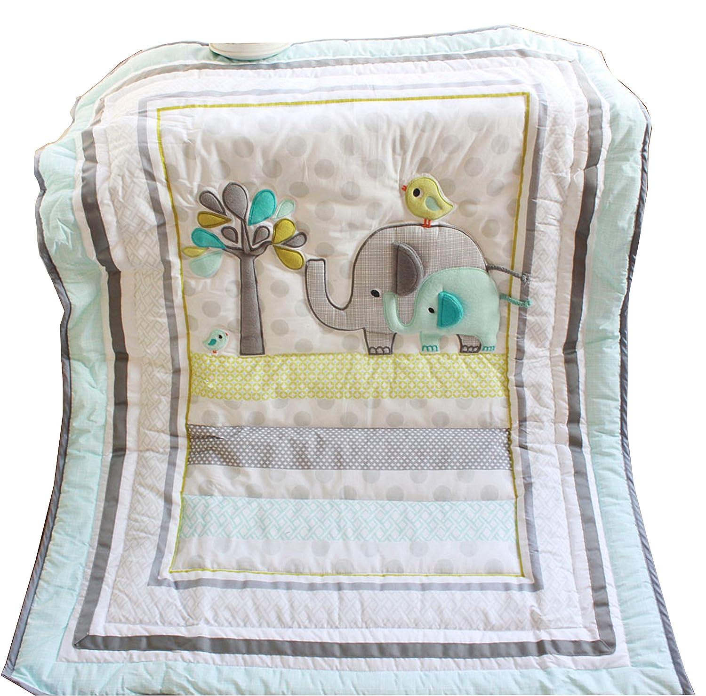Amazon.com: Bebé Safari Elefante – Colcha de ropa para cuna ...