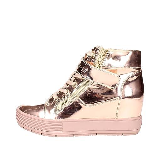 Fornarina zapatillas de deporte con cuña interior de oro PIFMJ9606WPA5100 espejo metil-cobre otoño invierno nueva colección 2016 2017: Amazon.es: Zapatos y ...