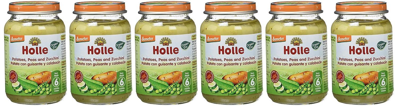 Holle Potito de Patata, Guisantes y Calabacín (+6 meses) - Paquete de 6 x 190 gr - Total: 1140 gr: Amazon.es: Alimentación y bebidas